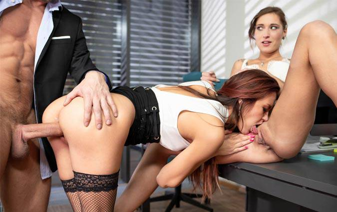 private-cindy-shine-mina-anal-threesome-at-the-office