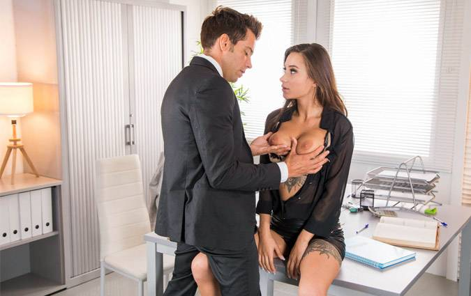 private-liya-silver-gets-hot-in-the-office